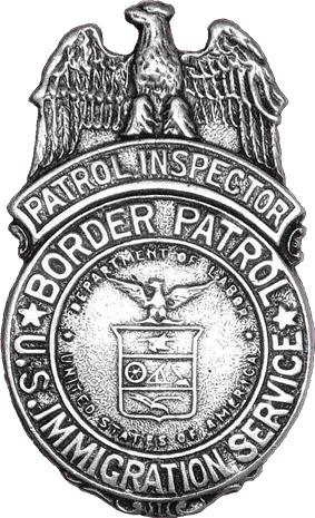 Badge of the United States Border Patrol, circa 1939.