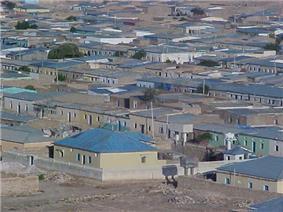 view of East-side of the town, مشهد من الجانب الشرقي من المدينة