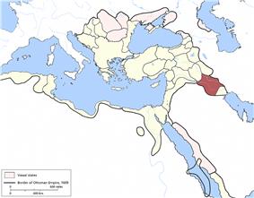 Location of Baghdad Eyalet