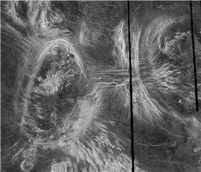 Coronae as seen in the Fortuna region of Venus