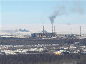 Photograph of the Baykalsk Pulp and Paper Mill.