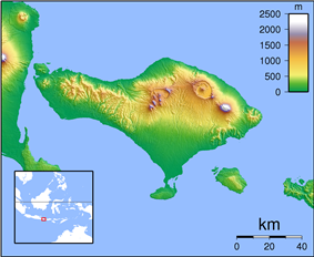 1917 Bali earthquake is located in Indonesia Bali