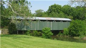 Ballard Road Covered Bridge, northwest of Jamestown