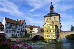 Old city hall (Altes Rathaus) in Bamberg.