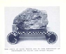 Phosphate rock used as door stop