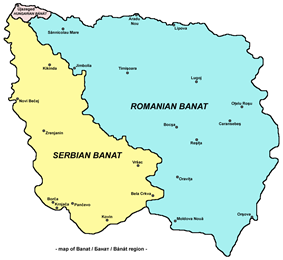 Map of Banat