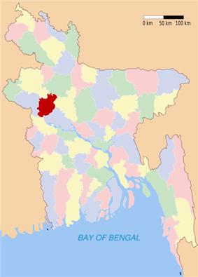 Location of Natore in Bangladesh