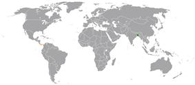 Map indicating locations of Bangladesh and Panama