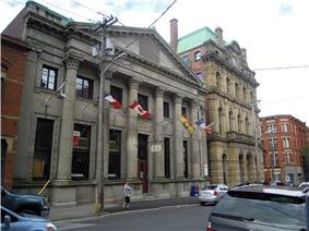 The Bank of New Brunswick Building and the Old Post Office on Prince William Street