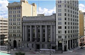 Banks row in Winnipeg, including the Union Trust and Bank of Hamilton buildings