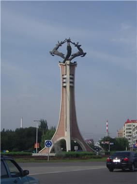 Deer Monument in Baotou
