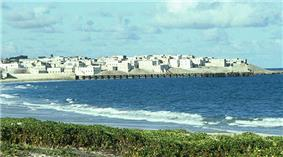 The Barawa seafront.