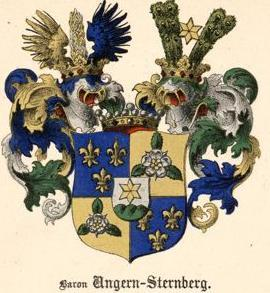 The coat of arms of the Baltic noble family von Ungern-Sternberg