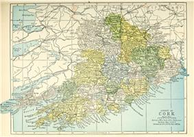 Map of the baronies in County Cork
