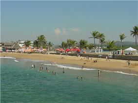 Barra de Navidad beach from Jetty