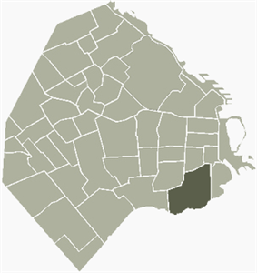 Location of Barracas within Buenos Aires