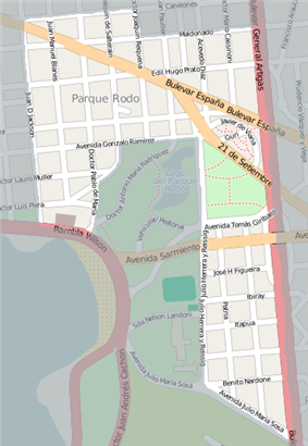 Street map of Parque Rodo (barrio)
