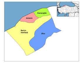 Districts of Bartın