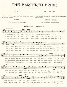A page of sheet music shows a melody under the headings