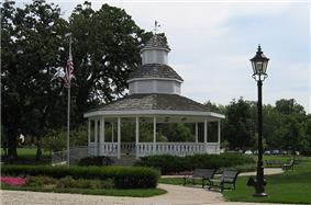 The Bartlett gazebo in Bartlett Park.