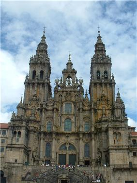 The Obradoiro façade of the grand Cathedral of Santiago de Compostela: an all-but-Gothic composition generated entirely of classical details