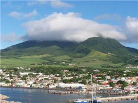 Skyline of Basseterre, Saint Kitts and Nevis