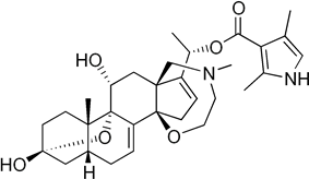 Skeletal formula of batrachotoxin