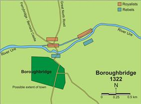 Diagram of the Battle of Boroughbridge