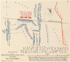 Map of the Battle of Bentonville.