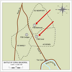 Map of the area of operations detailing locations referred to in the text.