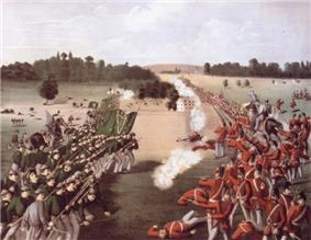 1869 painting of the Battle of Ridgeway