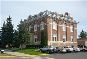 Exterior view of the Battleford Court House