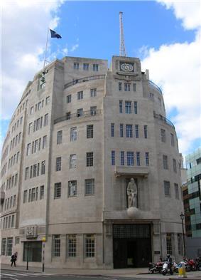 exterior of large twentieth-century office building