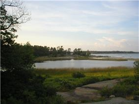 View of the shore on Beausoleil Island