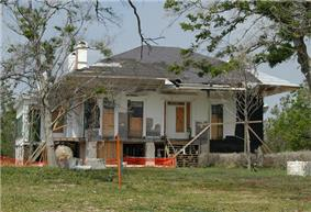 Beauvoir, showing damage from Hurricane Katrina.