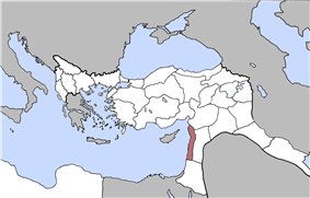 Location of Beirut Vilayet