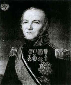 Portrait of Nicolas Beker in military uniform with medals