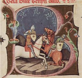 Béla fighting against the Pomeranian duke