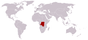 Map of the Belgian colonial empire at its maximum extent.