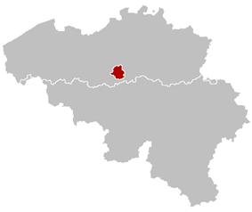 Location of the arrondissement in Belgium