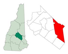 Location in Belknap County, New Hampshire