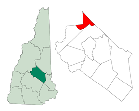 Location in Belknap County, New Hampshire