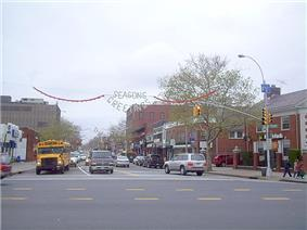 Bell Boulevard in Bayside looking north from Northern Boulevard