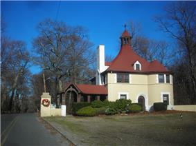 The Belle Terre Gatehouse, a beaux arts structure dating to the first decade of the 1900s