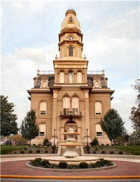 Logan County courthouse in Bellefontaine