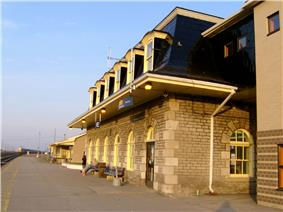 Exterior view of the Belleville Railway Station