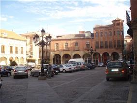 Plaza del Ayuntamiento in Benavente.