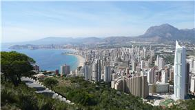 View over Benidorm, Costa Blanca