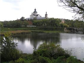 17th century fortified Carmelite convent in Berdychiv.