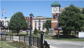 Triangle area of downtown Berea